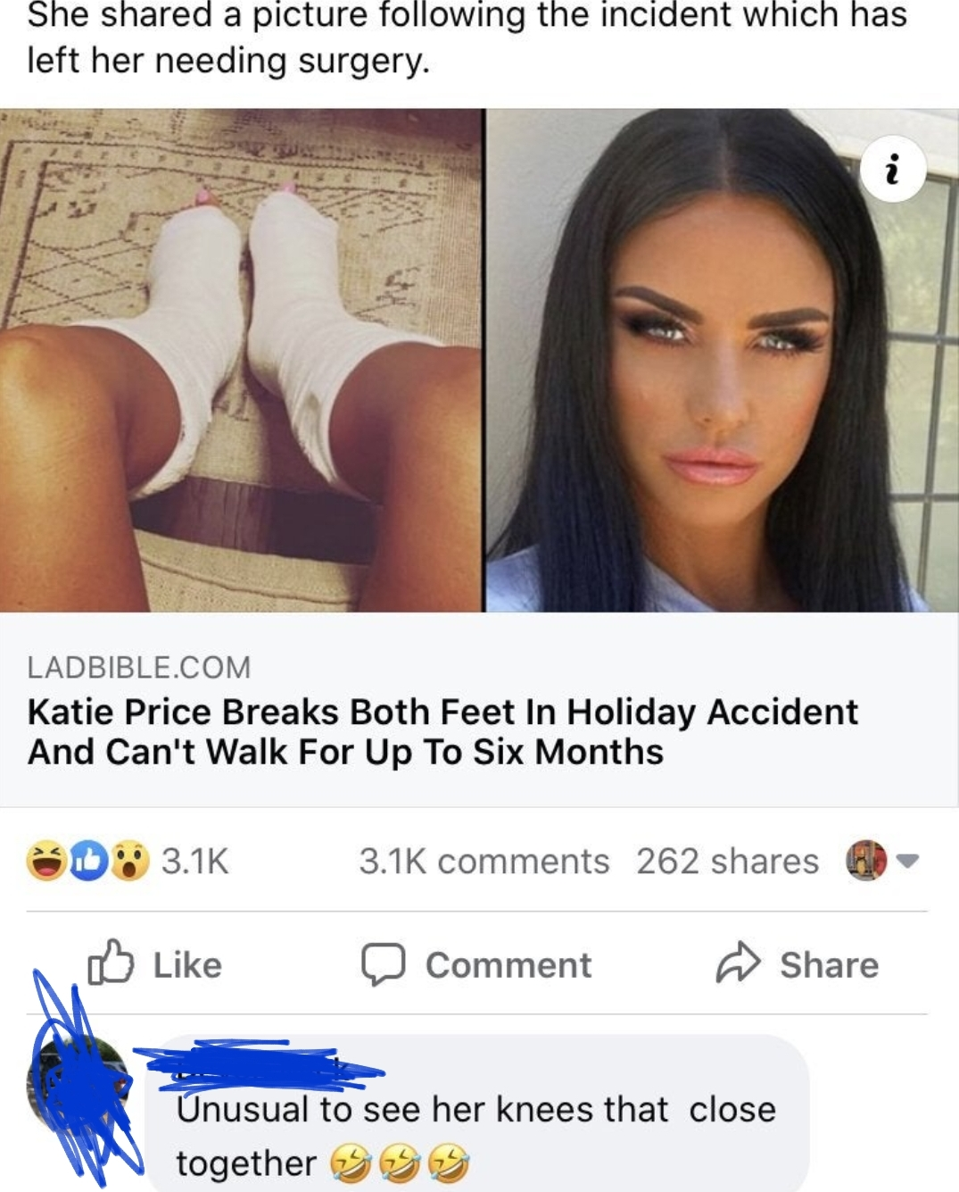 Get it? Because she's a model! And that means, she has SEX!