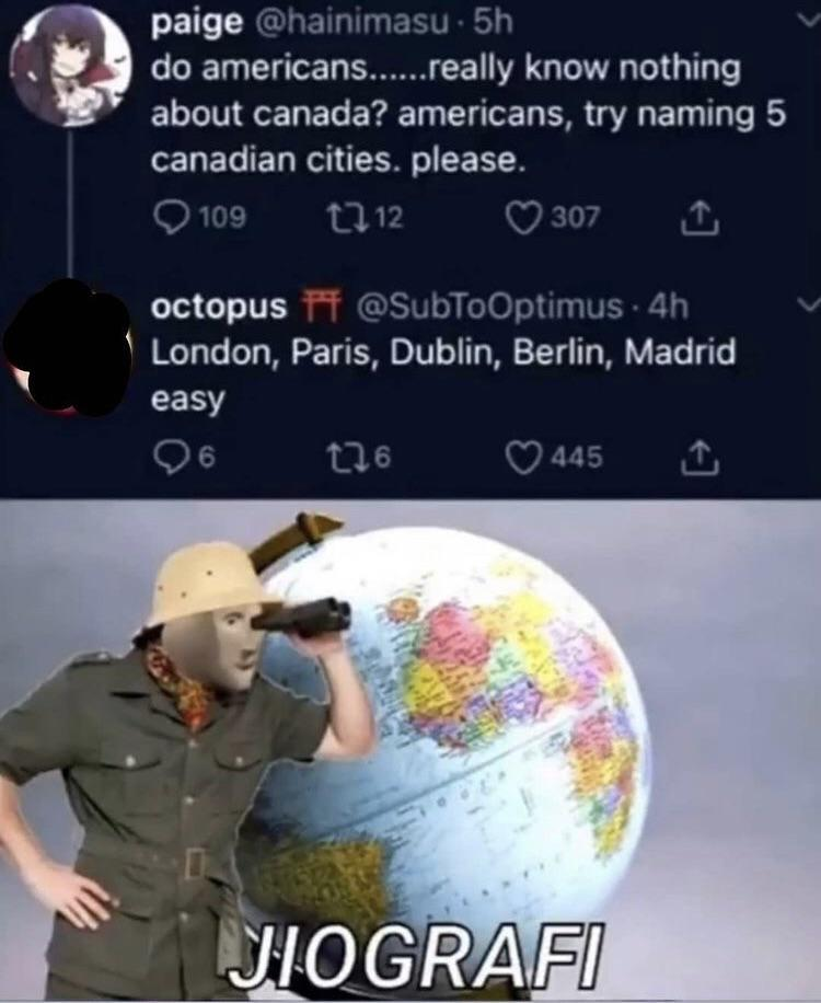Ha ha 'murica don't know country