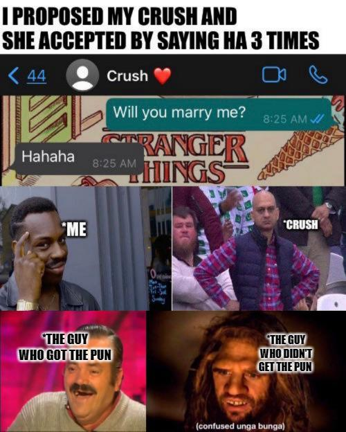 My crush accepted my proposal.